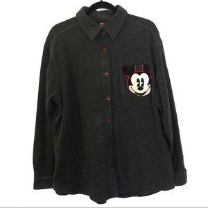 [DISNEY] Button down soft mickey mouse shirt XL
